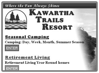 Thumbnail of Kawartha Trails Resort web site