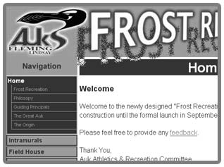 Thumbnail of Frost Recreation web site